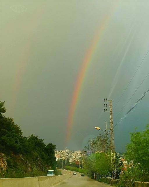 harissa bkerke lebanon mountains rainbows cloudy mediterranean travel...