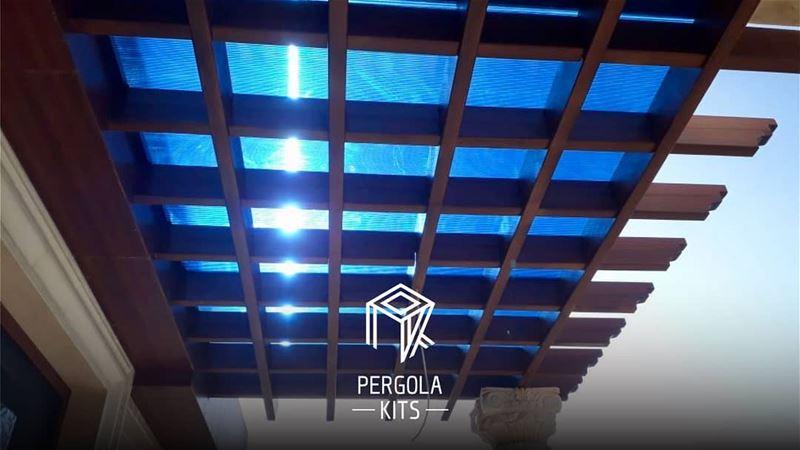 Blue Polycarbonate Pergola Kits. PergolaKitsLebanon. PergolaKits ...