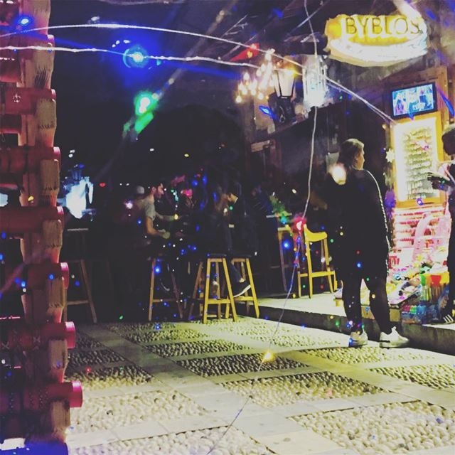 I Live In A Bubble. byblos jbeil lebanon beirut night walking man ... (Byblos, Lebanon)