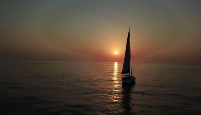 batroun sunset sailing sailingboat sea mediterraneansea ... (Batroûn)
