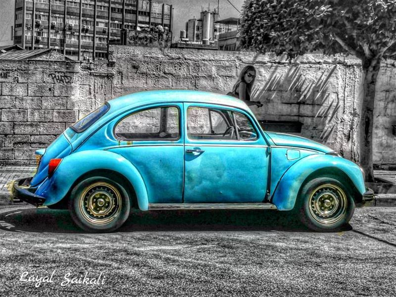 `` Who needs a fancy car when it comes to an old Volkswagen?😍`` •••••... (Beirut, Lebanon)