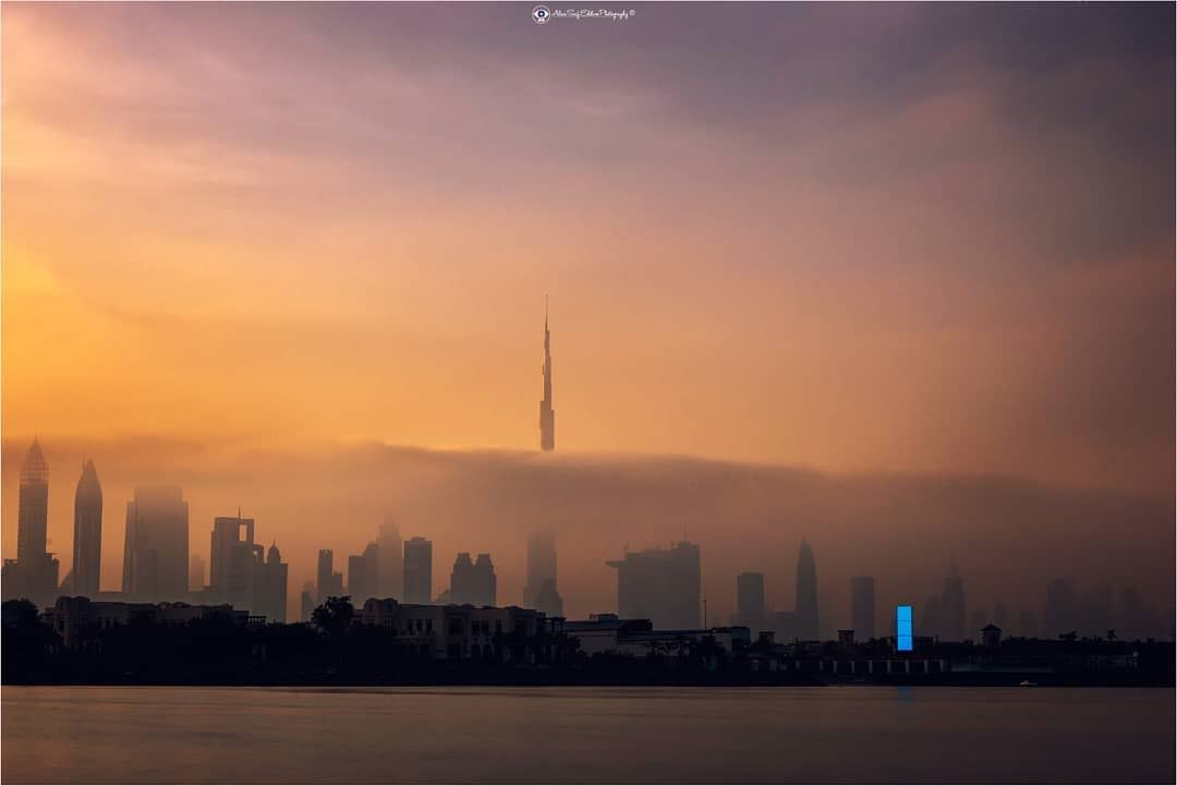 Burj khalifa between the clouds.One of the compositions that illustrates... (Burj Khalifa)