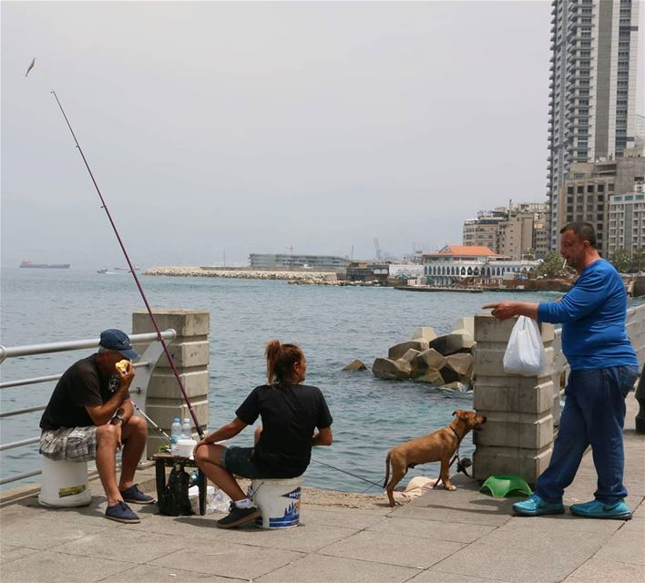Friendly conversation on how to do the fishing correct:) thisislebanon79 ... (Beirut, Lebanon)