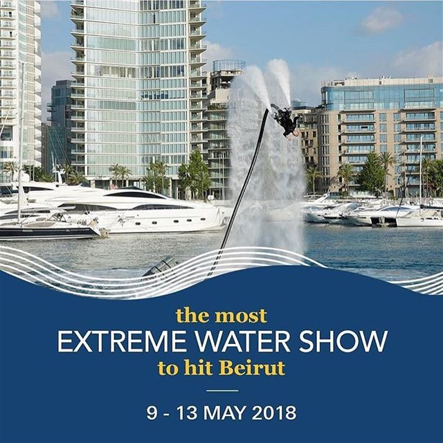 Beirut Boat Show 🚣🏾  flyboard  showtime  flyboardlebanon  watersports ... (Zaitunay Bay)