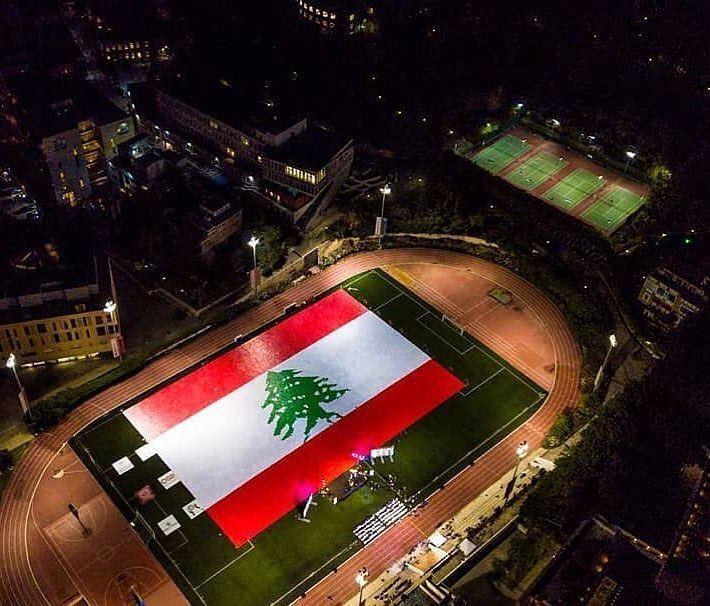Líbano em mais um novo recorde mundial do Guinness Book 🇱🇧 Estudantes da... (American University of Beirut (AUB))
