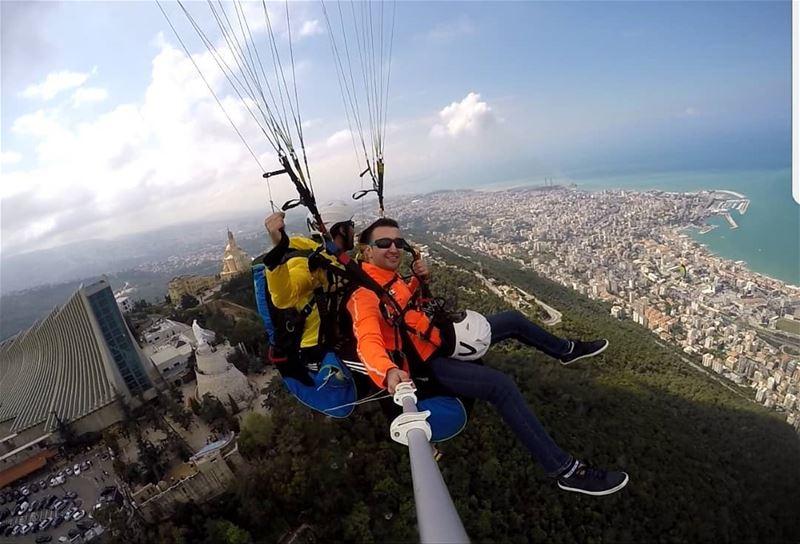 harissa jounieh fly_lebanon sky_lebanon extremesport beirut lebanon...