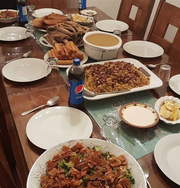 Family Dinner 🌸🌸Fattouch🌸Cheese Rolls🌸Sayadiye🌸Veggie-Lentil Soup... (Greater Montreal)
