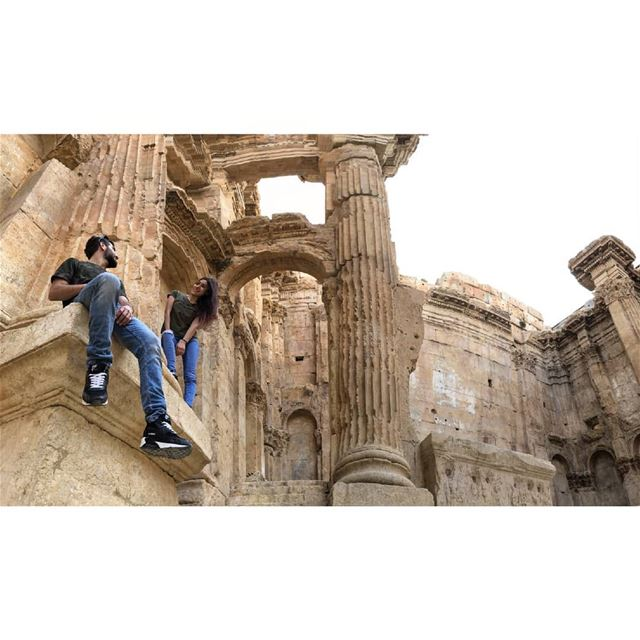 The decline of these ruins began when the temple passed to the Ottoman... (Baalbek, Lebanon)