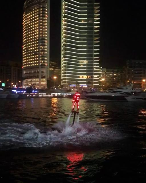 Glow in the Dark. Night Show @beirutboatshow @zaitunaybayofficial ... (Zaitunay Bay)