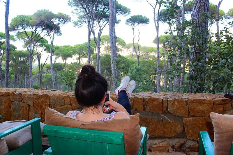 Find your inner peace out in nature🙏✨ lebanesenature naturelovers ... (La Maison de la Forêt)