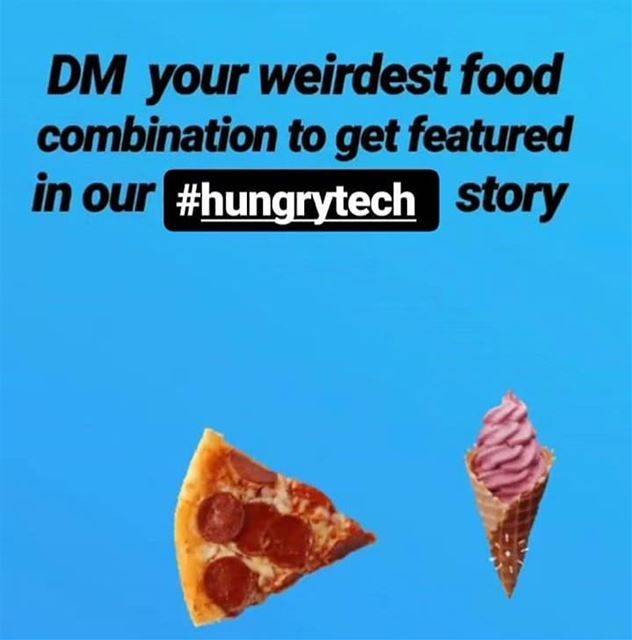 Comment your strangest food combination & tag your friends to participate � (Beirut, Lebanon)