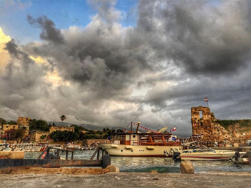 Simply Byblos! byblos jbeil lebanon sea clouds boat igers ...