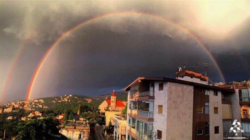 rainbows n Beirut mountlebanon livelovelebanon nature sunset...