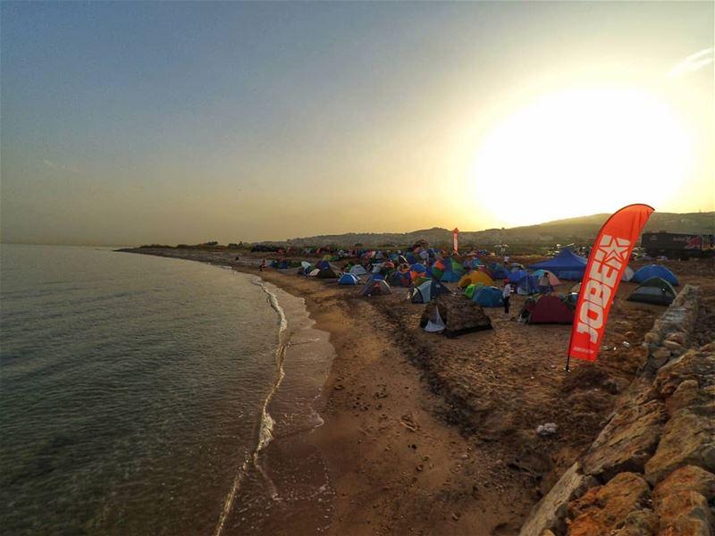 Mornings! 😍❤..... camping camp beachcamp campinglife campers ... (Damour, Lebanon)