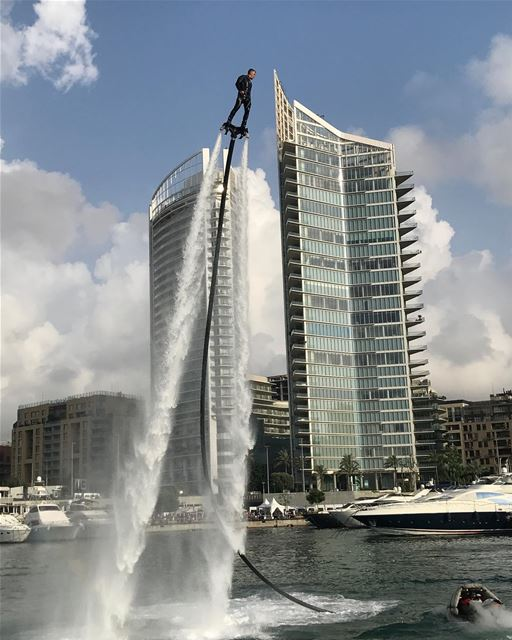 Last day @beirutboatshow lebanonspotlights lebanontimes ... (Zaitunay Bay)