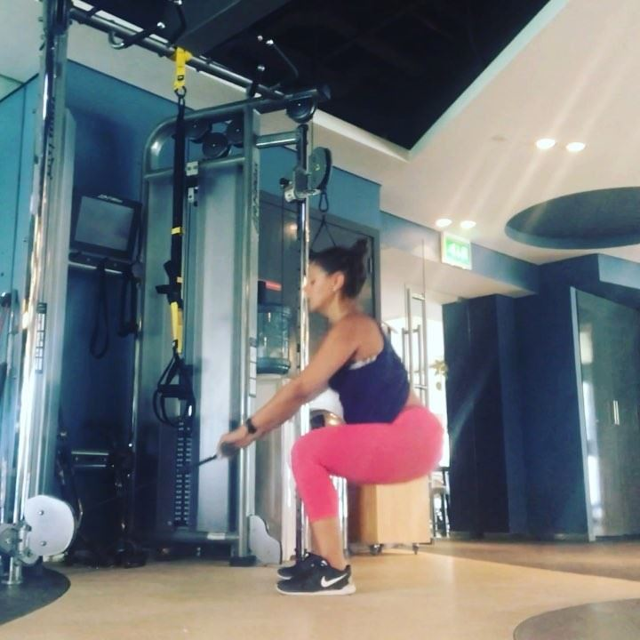Part 1 of cableworkout , legs , I might look like I over train , and... (Dubai, United Arab Emirates)