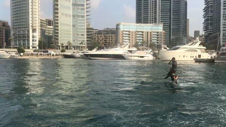 Double Trouble ✌🏻@Eliodiab @beirutboatshow @zaitunaybayofficial flyboard... (Zaitunay Bay)