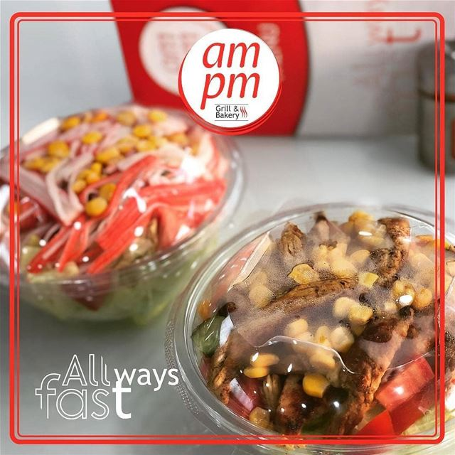 @ampmresto - Crab or Chicken? 🥗 ampm ampmresto Grill Bakery Saj ... (am pm)