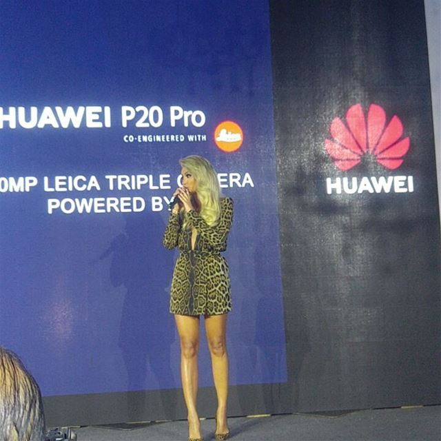 Launching of  huaweip20pro with  star @mayadiab  device  newtechnology ... (The Villa)