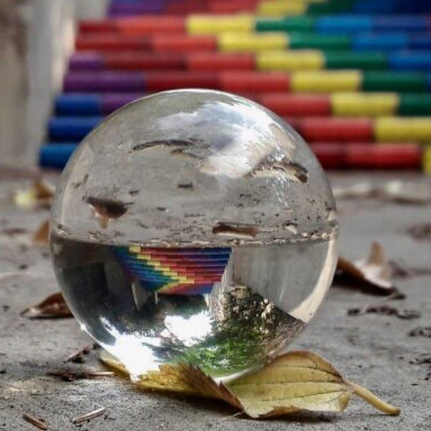 Dream in colors.....🔮•••••••• crystalball crystalballphoto ... (Zouk Mikael)