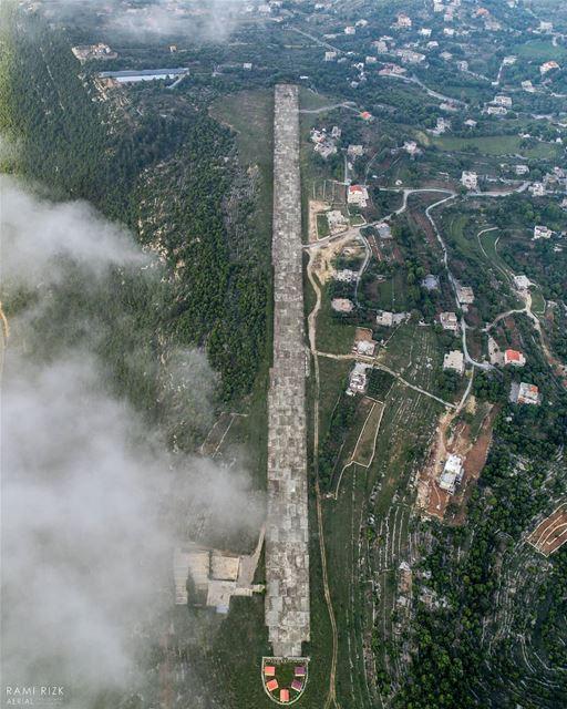 """Cabin crew please prepare for landing"" 🛬 ☁️... lebanon shouf ... (Baadarâne, Mont-Liban, Lebanon)"