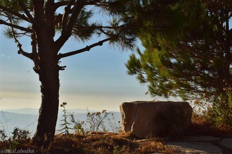اذا تعاظم حزنك او فرحك صغرت الدنيا 👌... lebanon photography ... (Niha Fortress - قلعة نيحا)