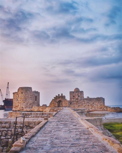 Everything that is made beautiful and fair and lovely is made for the eye... (Sidon Sea Castle)