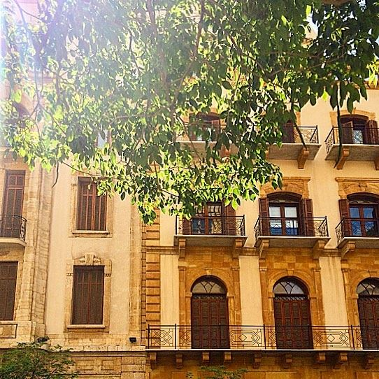 The sun is up, the sky is blue and birds are singing: it's going to be a... (Downtown Beirut)