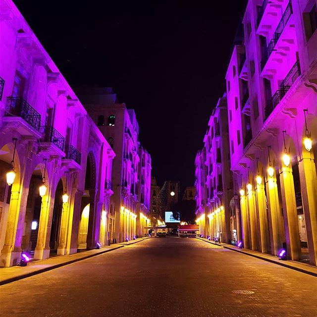 🇱🇧🇱🇧❤❤ nightout colorful lighting oldarchitecture oldbuilding ... (Beirut, Lebanon)