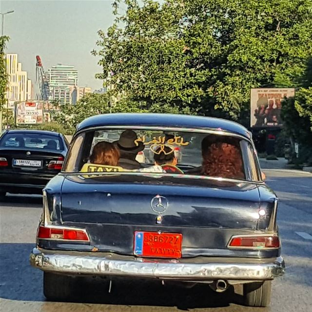 "It's written ""King of Love"" on the car's rear window 💛💛... (Beirut, Lebanon)"