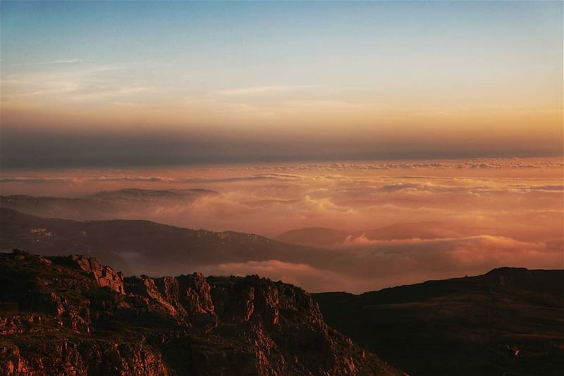 lebanon sunset mountains scenery sunsets sunsetlovers sunsetporn ... (Mount Sannine)