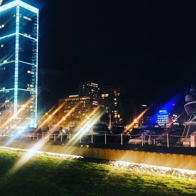 City 🌃 Lights. beirut lebanon sky travel natgeotravel traveller ... (Zaitunay Bay)