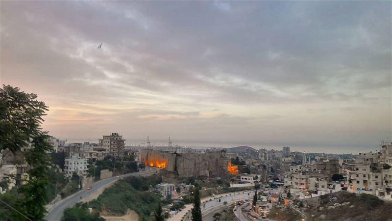 إفطار شهي للجميع Iftar Sunset Ramadan RamadanKareem RamadanMubarak ... (Tripoli, Lebanon)