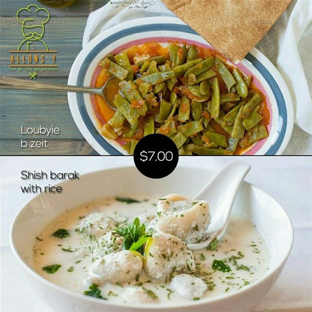 @allonzyresto -  Plat Du JourShish barak with salade and dessert $7.00... (Allons'y)