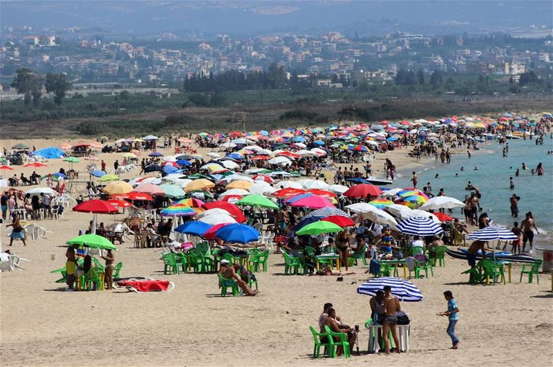 Sunday beach time lebanontimes lebanon tyre south beach water ... (Tyre, Lebanon)