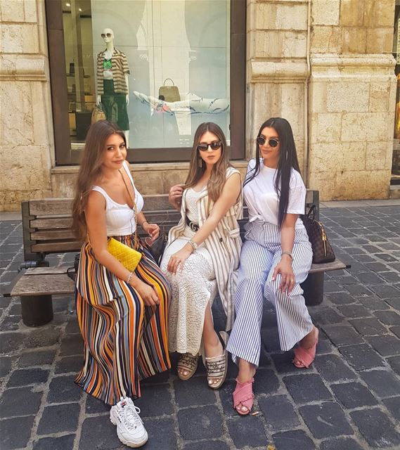 Fun day with the girls @jeannefeghaly @farahgalal1 beirut lebanon... (Downtown Beirut)