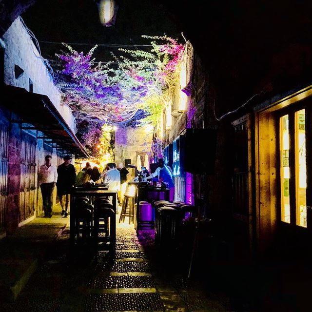 people nights lights flowers byblos lebanon🇱🇧 summer ... (Byblos - Jbeil)