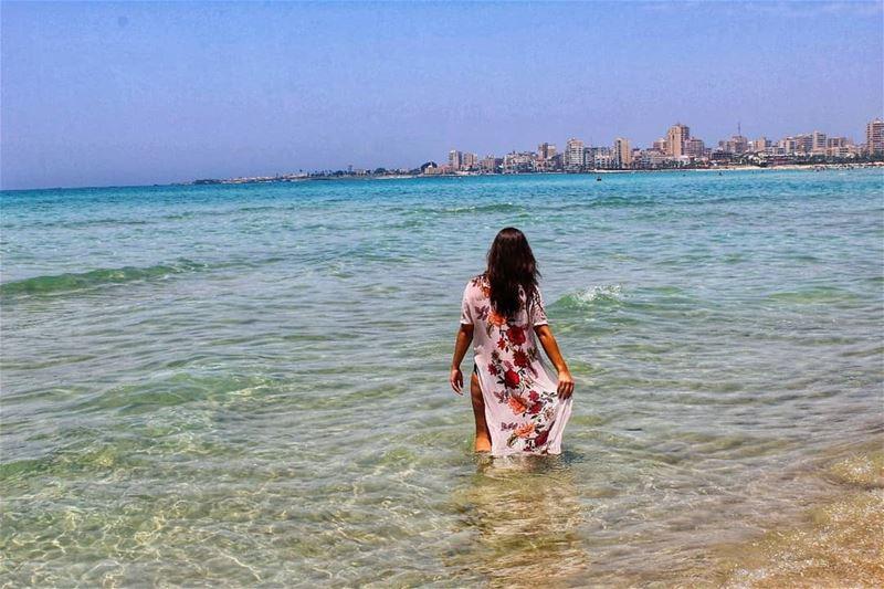 Sun, sand, the sea and me 😊 ......... 📸 @pamchemali enjoylife ... (Tyre, Lebanon)