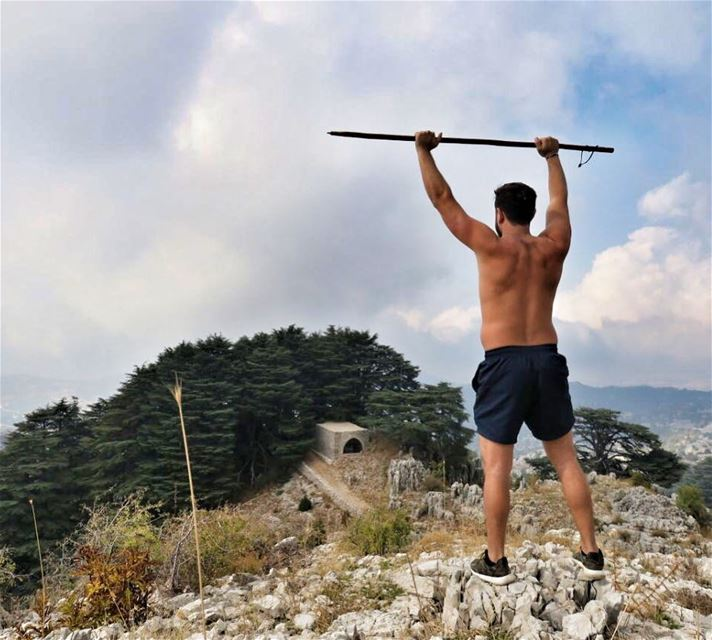 The world is yours, Take it✌🏻. ExploreWithChris.📸 @elias.ac ... (Jaj, Mont-Liban, Lebanon)