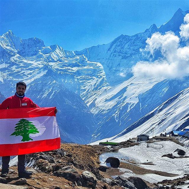 Lebanese and proud 🇱🇧.... tb himalaya himalayas pokhara ... (Nepal)