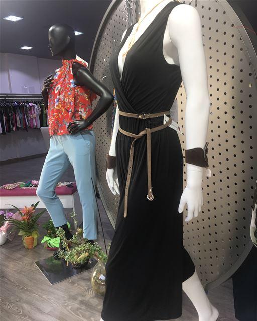 Simply black jumpsuit with leather accessories DailySketchLook 317... (Er Râbié, Mont-Liban, Lebanon)