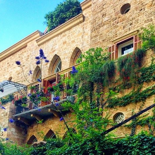 Traditional Lebanese House in Beirut💛💚💜 photography  photographie ... (Beirut, Lebanon)