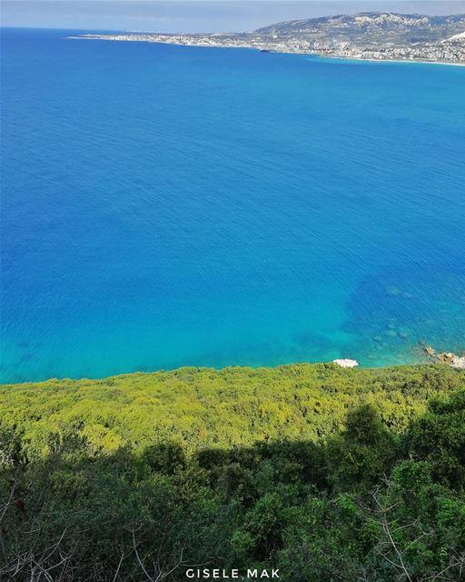 Time for some seahabilitation. sea seaview ocean shadesofblue green ... (Lebanon)