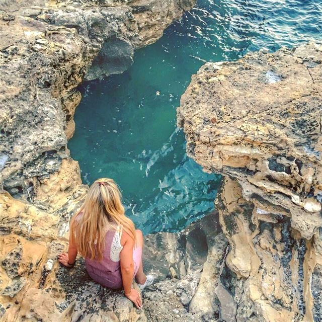 Some of the best days spent in places like this 👱🏻♀️💚.. beach... (Batrun, Liban-Nord, Lebanon)