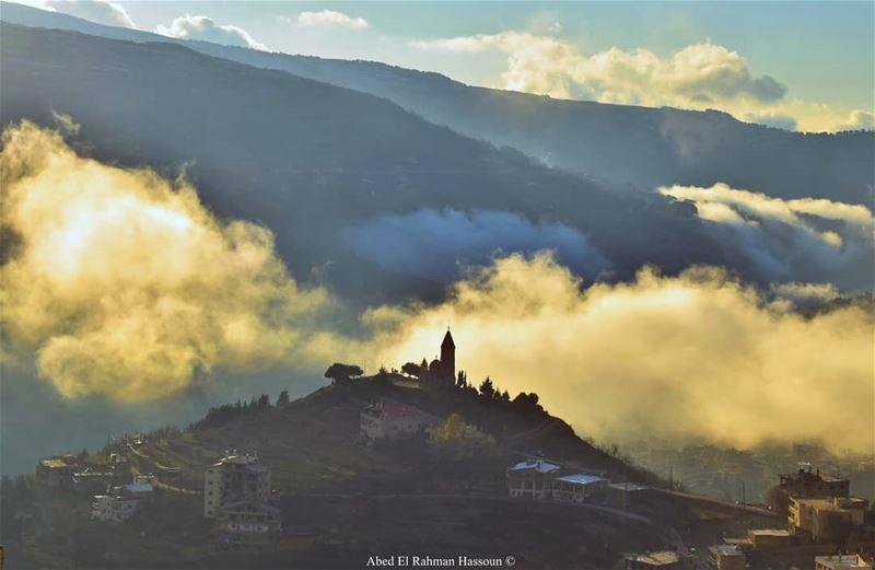 Bsharri AlArz Bsharri Lebanon Lebanese village landscape Clouds... (Bsharri, Lebanon)