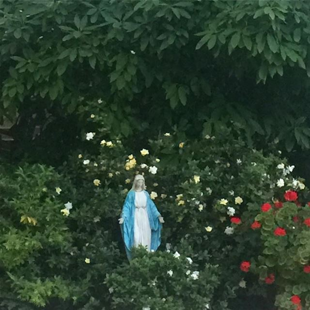 flowers virginmary faith lebanon lebanon_hdr lebanon ... (Harîssa, Mont-Liban, Lebanon)