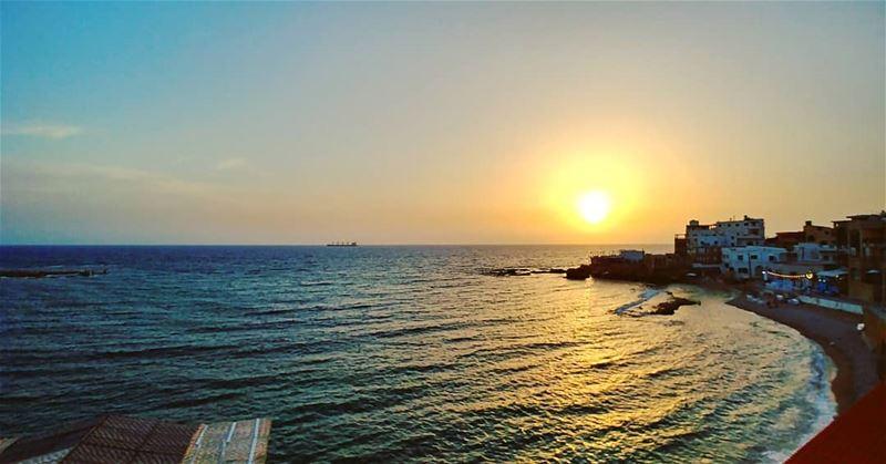 therapy 💆... sunset beach batroun livelovebatroun lebanon ... (Batroûn)