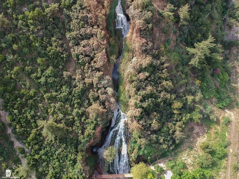 aerialphotography aerial photoghraphy photo takenbywissamalhoury... (Ouyoun El Samak Waterfalls)