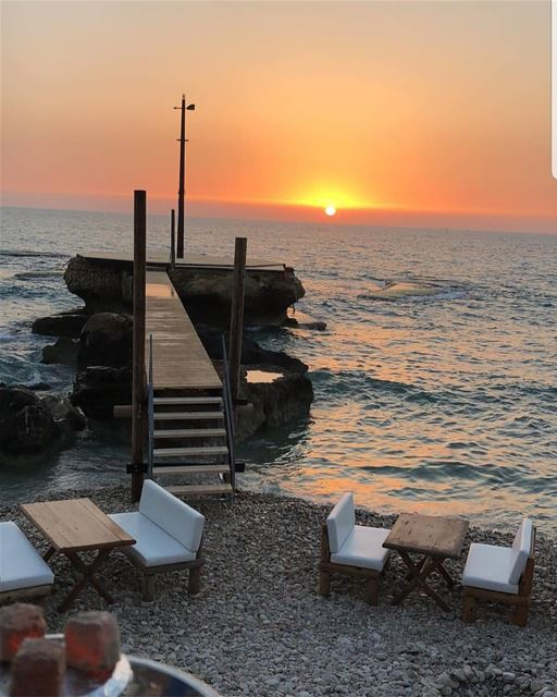batroun @kaptn_batroun sunset beach beach_bar se mediterraneansea ... (KAPTN Batroun)