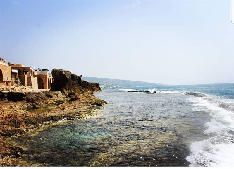 batroun phoenician wall sea mediterraneansea batrounbeach ... (Phoenicien Wall)